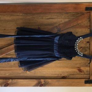 Used navy blue prom dress
